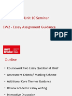 MOIC S11 - 2018-19 Essay Assignment Guidance - Coursework 2