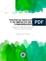 Politicas educativas y suimpacto en comunidades