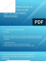 Guiding Principles in Selection and Use of Teaching Strategies
