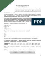 Taller II de Estadística II, Octubre de 2019