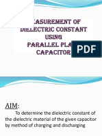 Exp. No. 03 - Measure Ment of Dielectric Constant Using Parallel Plate Capacitor