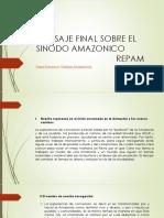 Mensaje Final Sobre El Sinodo Amazonico