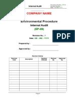 Environmental Audit Checklist