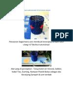 Cara Membuat Keranjang Sampah Dari Tutup Botol Bekas