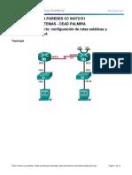 configuración de rutas estáticas y predeterminadas IPv4
