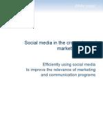 Social Media in Cross-channel marketing strategies by Selligent Nov10