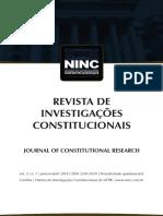 revista de investigações constituionais