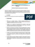 Evidencia 1 Procedimientos Operativos Para Operaciones Logísticas
