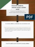 Economía Solidaria, Movimiento Social y Cambio Social