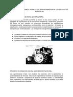 Procesos Industriales Rurales de Transformacion de Los Productos Agricolas