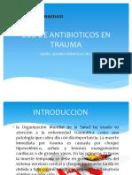 Uso de Antibioticos en Trauma