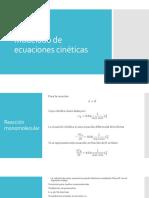 Modelado de Ecuaciones Cinéticas