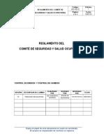 Sig-re-02 Reglamento de Comite Sso