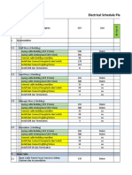 Electrical Schedule Plan