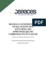 Modelo Genérico de Carreras 2017
