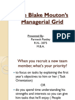 The Blake Mouton's Managerial Grid