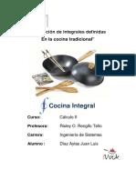 Aplicacion de Integrales Definidas en El