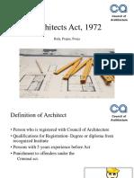 Architects Act 1972