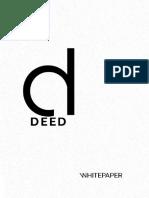 Deedcoin White Paper