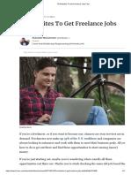 79 Websites to Get Freelance Jobs Fast