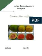 Chemistry Investigatory Project v1