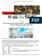 CPF Investment Scheme (CPFIS) – Everything You Need to Know About Investing With CPF