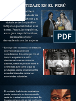 El Mestizaje en El Perú