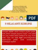 9 Nilai Anti Korupsi