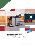 Brochure Bizhub PRO C5501