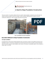 Methods of Excavation Used for Deep Foundation Construction