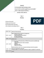 agenda short-term joint staff training events