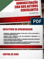 Administração Financeira Dos Activos Circulantes