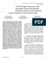 An Analysis of The Design Framework of the Radiology Information System and Hospital Management Information System Used in Selected  Public Hospitals in Uasin Gishu County