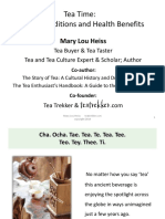 The Story of Tea a Cultural History And