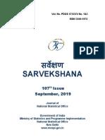 107th Issue of Sarvekshana