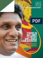 NDF Presidential Candidate Sajith Premadasa's Manifesto (English)