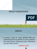 Group Dimensions - groups