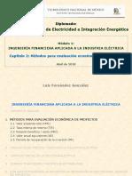 Ingeniería Financiera - Capítulo 2 (Métodos Evaluación de Proyectos)