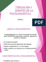 Antecedentes de la  Psicolingüística (2019)