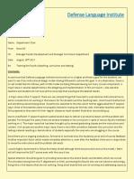 defense language institute memo