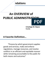An Overview of Public Administration