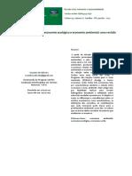 Economia Verde, Economia Ecológica e Economia Ambiental -Uma Revisão