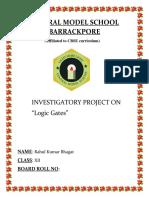 Physics logic gates project