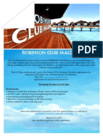 Purchasing Executive (Locals ) Job Vacancy at ROBINSON Club Maldives