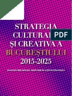 Strategia culturală și creativă a Bucureștiului 2015-2025