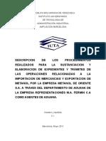 Informe de Pasantias de Aduna, Victor