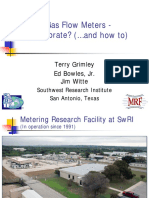 NG Flow Meters Why Calibrate Terry Grimley