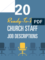 20 Ready-To-Use Ministry Job Descriptions