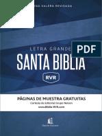 RVR Biblia Letra Grande Muestra Gratuita