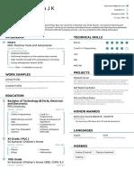 Pranava's Resume